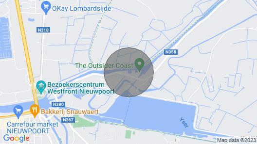 2 Zimmer Unterkunft in Nieuwpoort Map