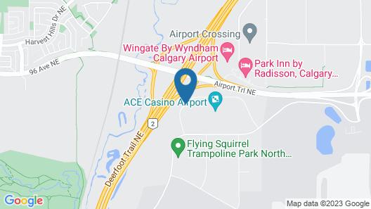 Hotel Clique Calgary Airport Map