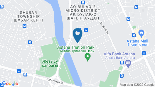 The ONE Hotel Astana Map