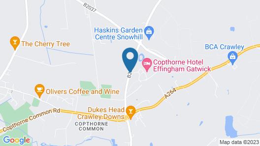 Copthorne Hotel Effingham Gatwick Map