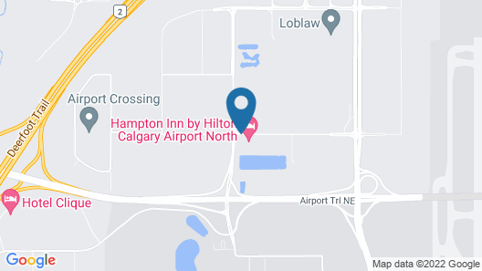 Homewood Suites by Hilton Calgary-Airport, Alberta, Canada Map