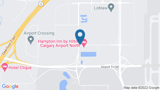 Hampton Inn by Hilton Calgary Airport North Map