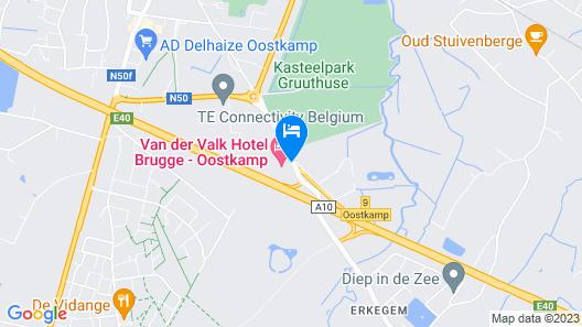 Hotel Van der Valk Brugge-Oostkamp Map