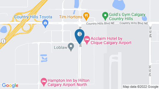 Acclaim Hotel Calgary Airport Map