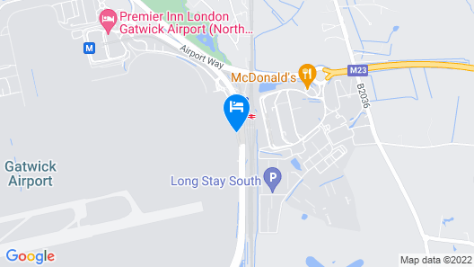 Bloc Hotel London Gatwick Airport Map