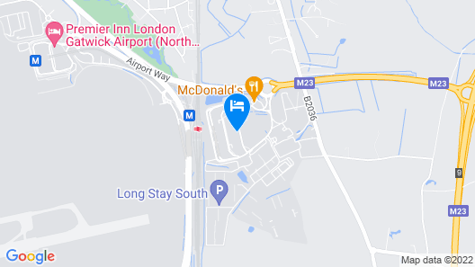 Hilton London Gatwick Airport Map