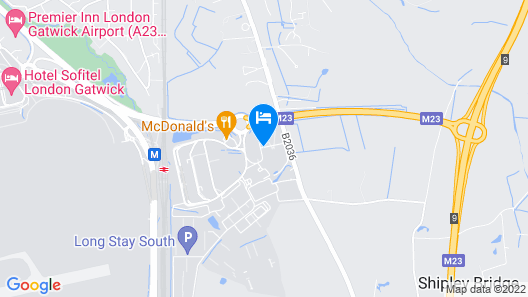 Courtyard by Marriott London Gatwick Airport Map