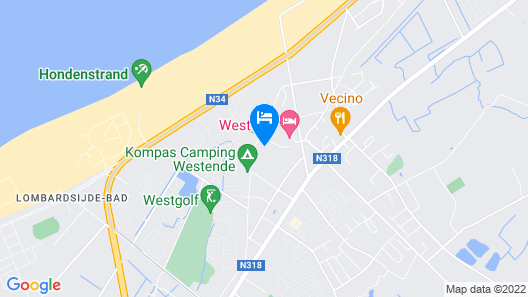 Modern Apartment With a Microwave, Located 1 km From the sea Map