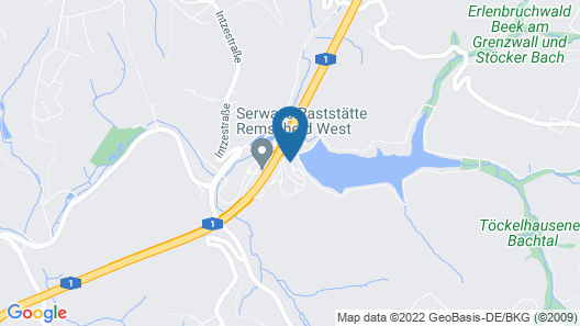 Serways Hotel Remscheid Map