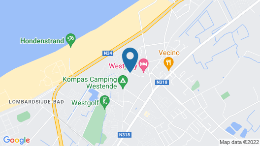 Holiday Suites Westende Map