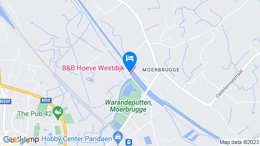 B&B Hoeve Westdijk Map