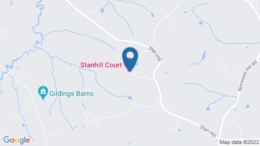 Stanhill Court Hotel Gatwick Map