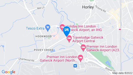 Airport Inn Gatwick Map