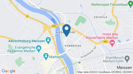 Dorint Parkhotel Meißen Map