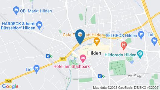 Amber Hotel Hilden Duesseldorf Map