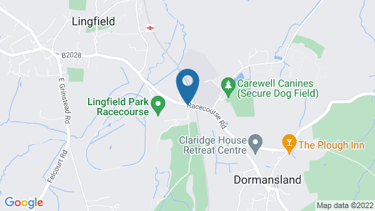 Lingfield Park Marriott Hotel & Country Club Map