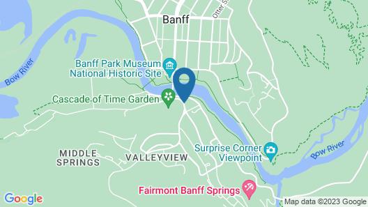 YWCA Banff Hotel Map