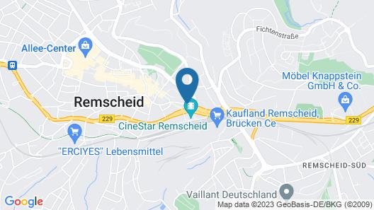 mk hotel Remscheid Map