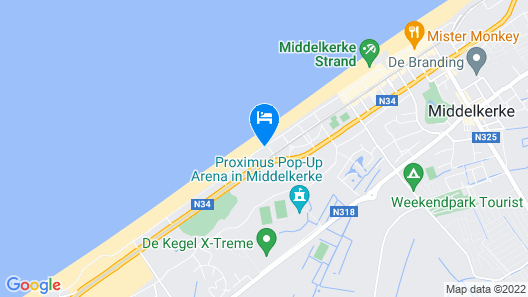 Apartment C227 With Fantastic Views of the Sea, Beach and Dunes in Middelkerke Map