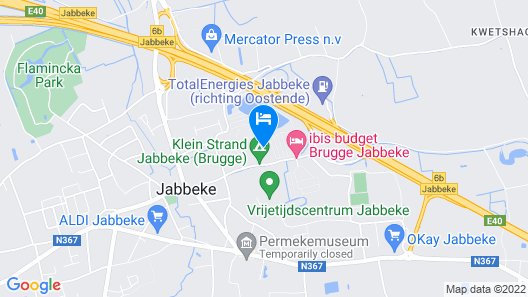 Modern Apartment With a Dishwasher at 1 km. From Jabbeke Map