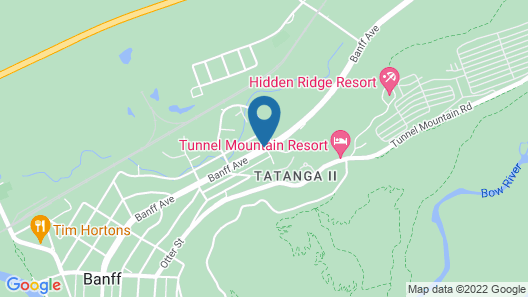 Banff Voyager Inn Map