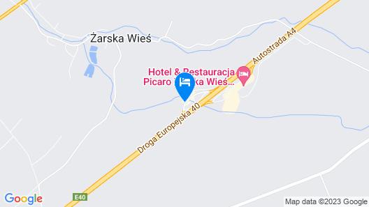 Hotel Picaro Żarska Wieś Północ Map