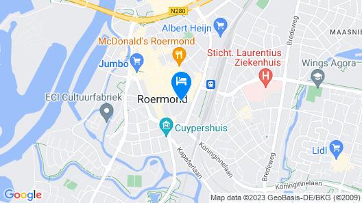 Theaterhotel De Oranjerie Map