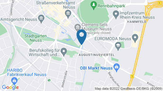 Dorint Kongresshotel Düsseldorf/Neuss Map