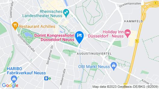 Dorint Kongresshotel Düsseldorf/Neuss Map