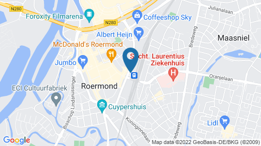 Hotel Roermond Map