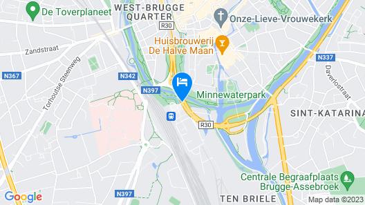 ibis budget Brugge Centrum Station Map
