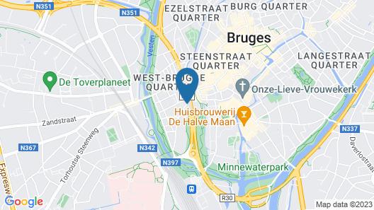 NH Brugge Hotel Map