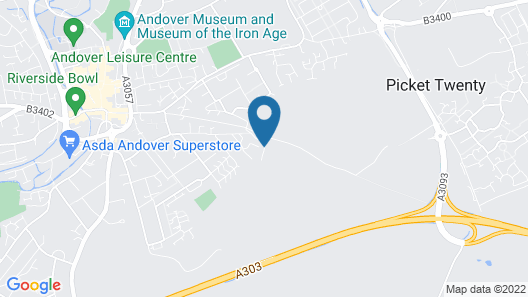 Best Western Andover Hotel Map