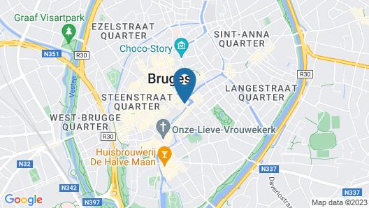 Hotel Bourgoensch Hof Map