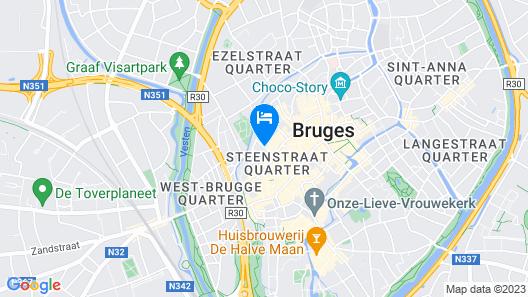 Hotel Prinsenhof managed by Dukes' Palace Map