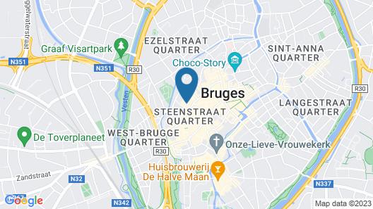 Hotel Dukes' Palace Bruges Map