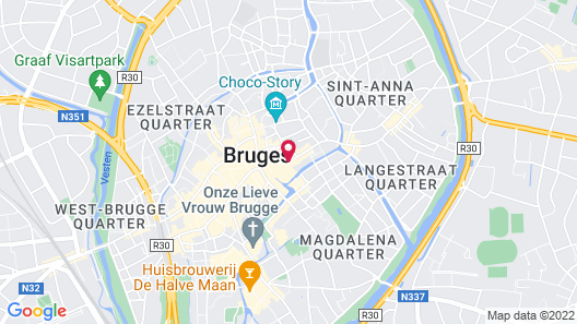 Crowne Plaza Bruges, an IHG Hotel Map