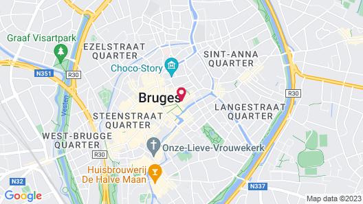 Grand Hotel Casselbergh Bruges Map