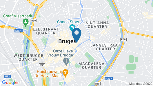 Grand Hotel Casselbergh Bruges Map