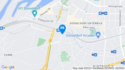 Holiday Inn Düsseldorf - Hafen Map