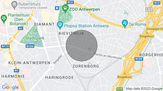 Antwerp City Center Flat Map