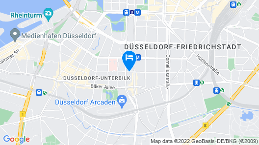 Living Hotel Düsseldorf  Map
