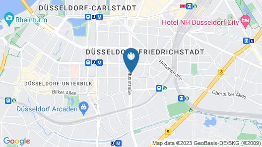 Hotel Antares Düsseldorf Map