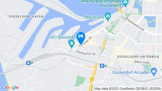 Radisson Blu Media Harbour Hotel, Düsseldorf Map