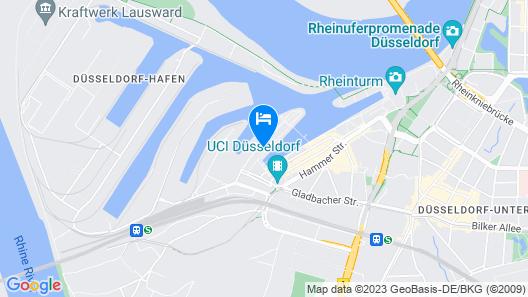 INNSiDE by Melia Düsseldorf Hafen Map