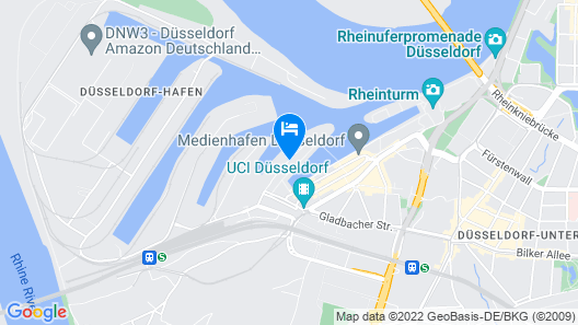 Courtyard by Marriott Düsseldorf Hafen Map