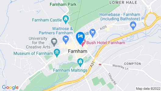Mercure Farnham Bush Hotel Map