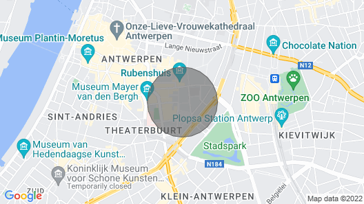Fully Equipped Flat Antwerp Bird Market 65m Map