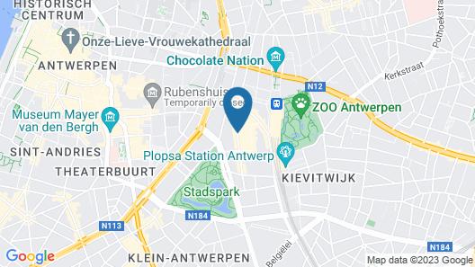 TripInn Eden Antwerp Map
