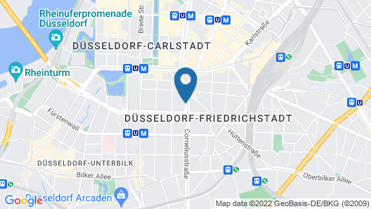 a&o Düsseldorf Hauptbahnhof Map
